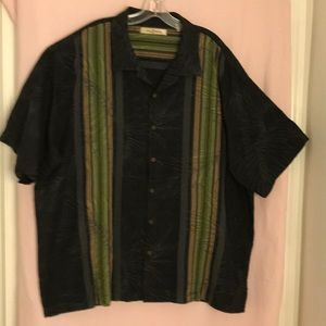 Tommy Banana 100% Silk Short Sleeve Shirt Size XXL